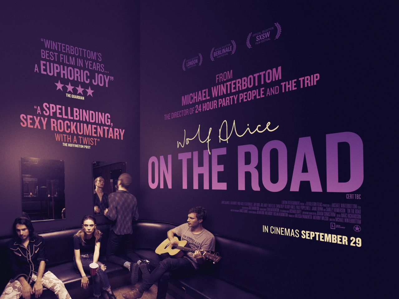 On The Road follows Wolf Alice around the country (Photo: Revolution Films)