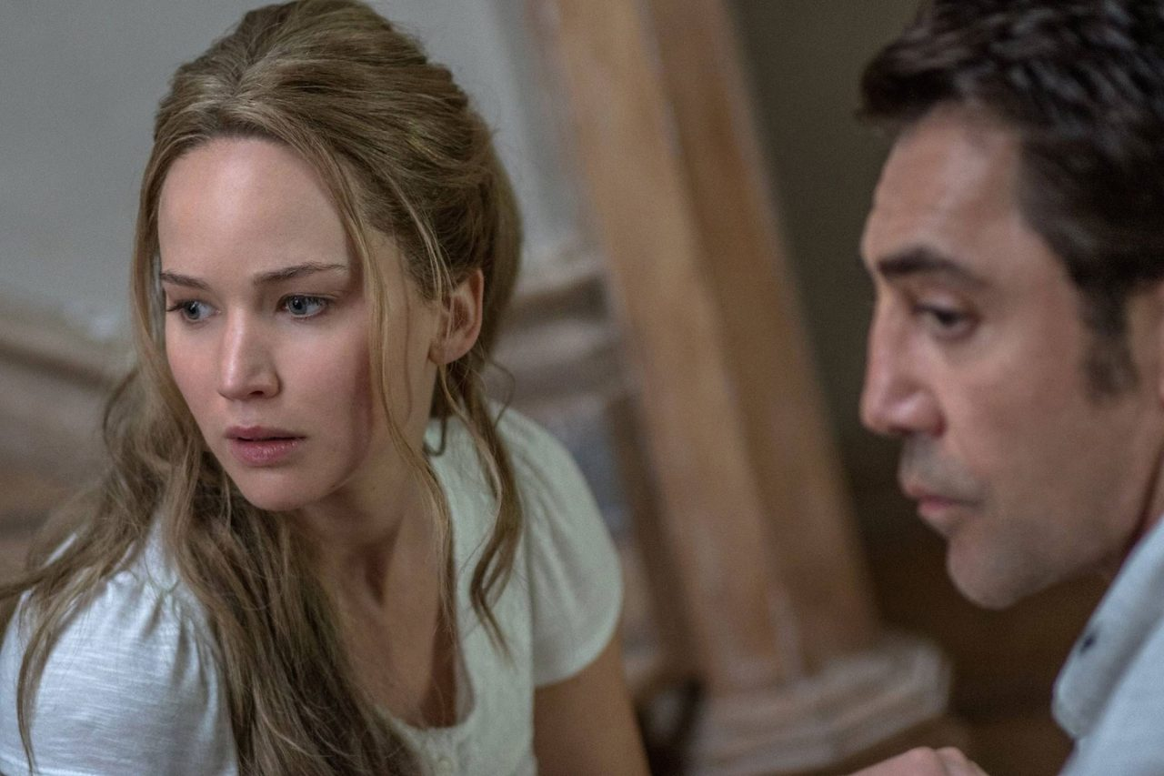 Jennifer Lawrence and Javier Bardem in mother! (Photo: Paramount Pictures)