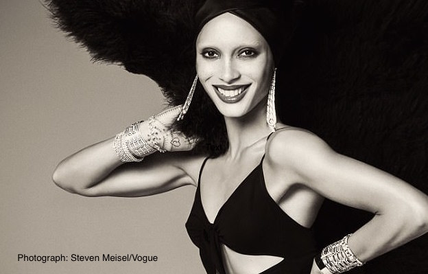 Ghanian-British model Adwoa Aboah is Vogue's covergirl. Photograph: Steven Meisel/Vogue