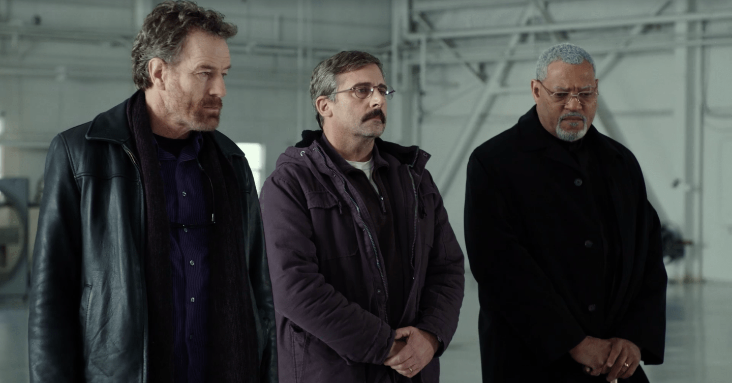 Richard Linklater film: Bryan Cranston, Laurence Fishburne and Steve Carell in Last Flag Flying