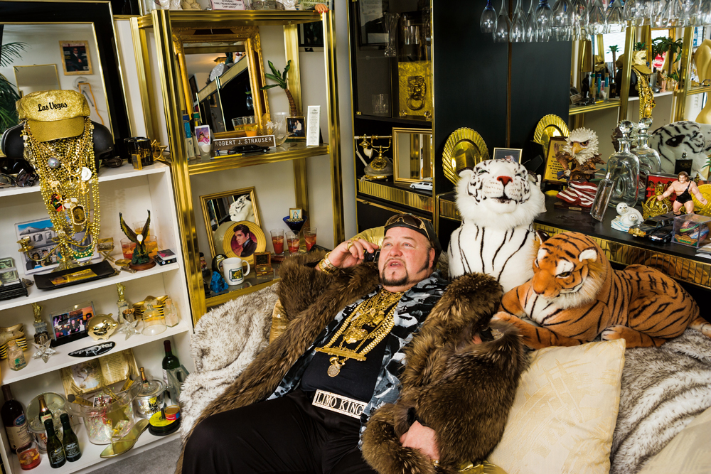 Limo Bob holds the record for owning the longest limousine in the world. He also has a limo-cum-Boeing 727. Photo: Lauren Greenfield/Generation Wealth