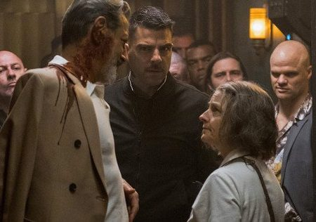 Jodie Foster and Jeff Goldblum in Hotel Artemis