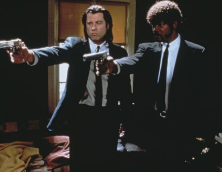 Vince Vega and Jules Winnfield negotiate in Pulp Fiction