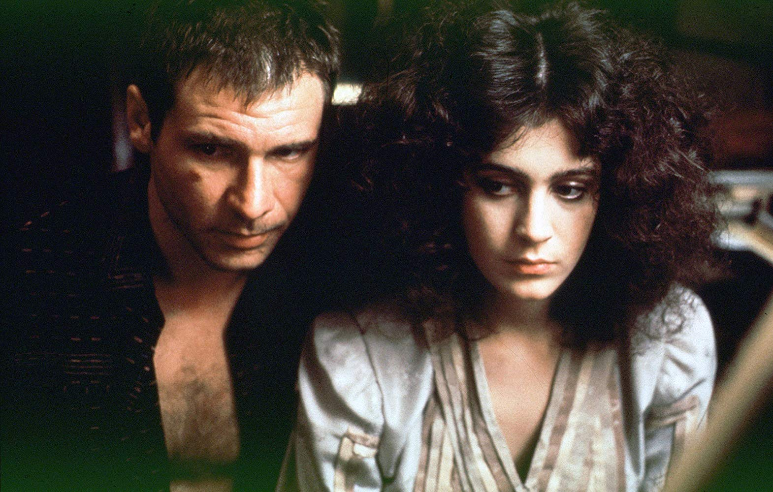 Harrison Ford and Sean Young in Blade Runner © 1982 Warner Bros. Ent. All Rights Reserved