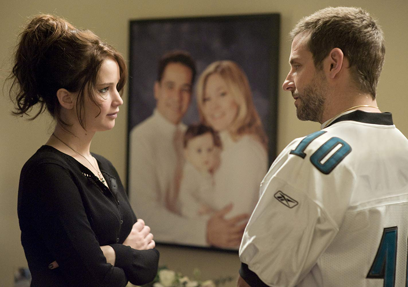 Jennifer Lawrence and Bradley Cooper in The Silver Linings Playbook
