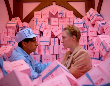 Saoirse Ronan and Tony Revolori in The Grand Budapest Hotel