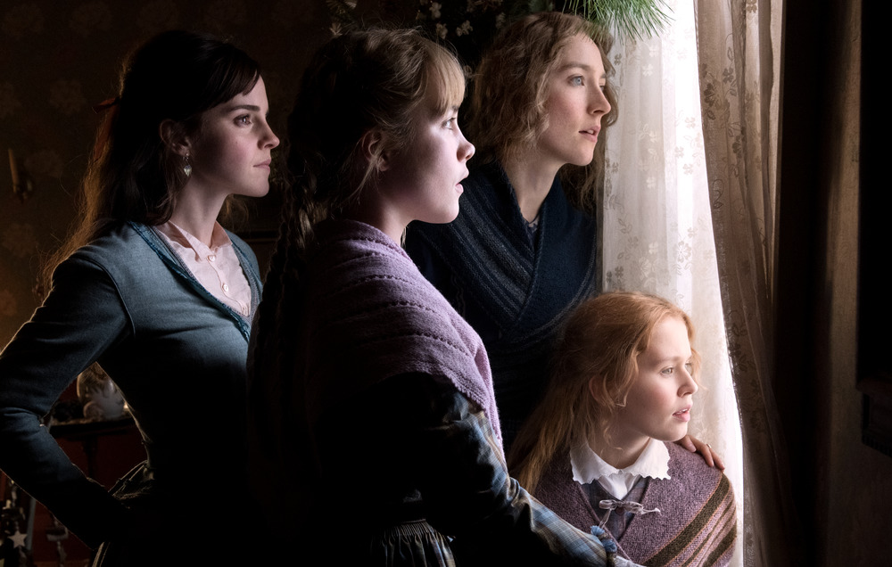 Emma Watson, Florence Pugh, Saoirse Ronan and Eliza Scalen in Little Women