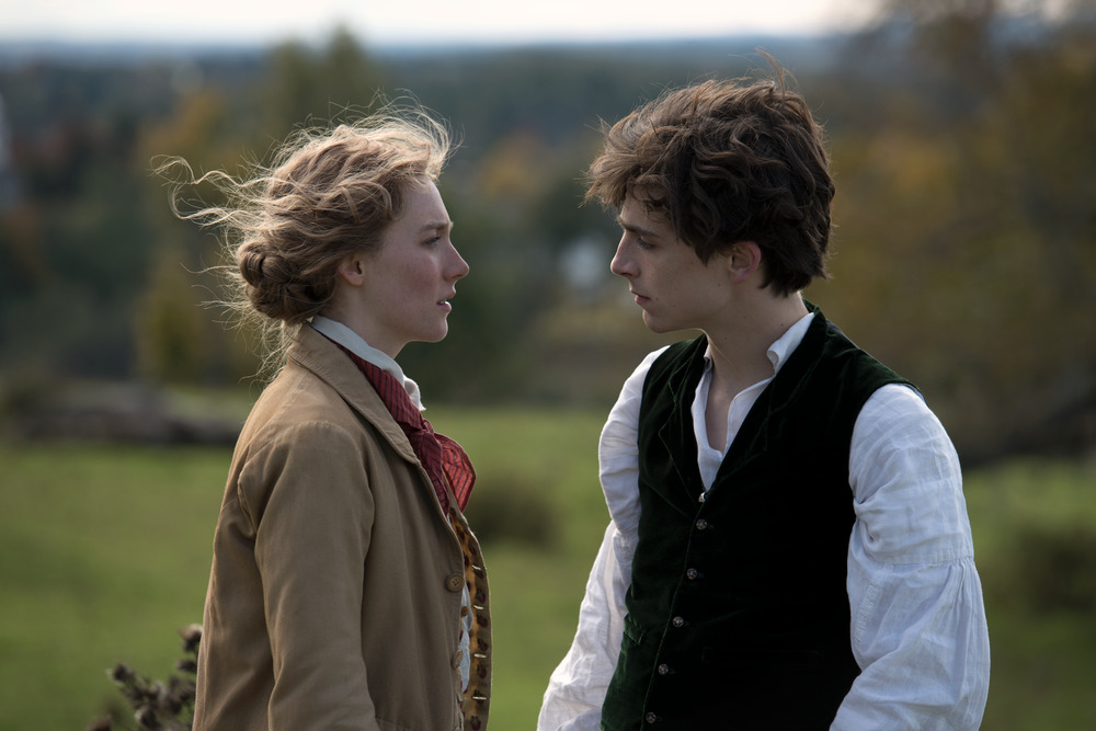 Saoirse Ronan and Timothée Chalamet in Little Women
